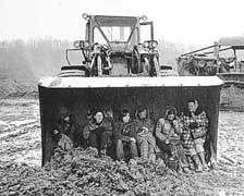 women in bulldozer
